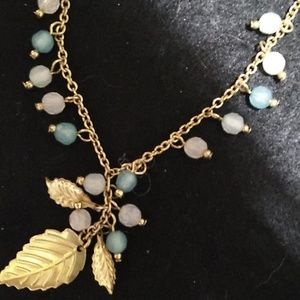 Gold leaf  and beaded Anklet